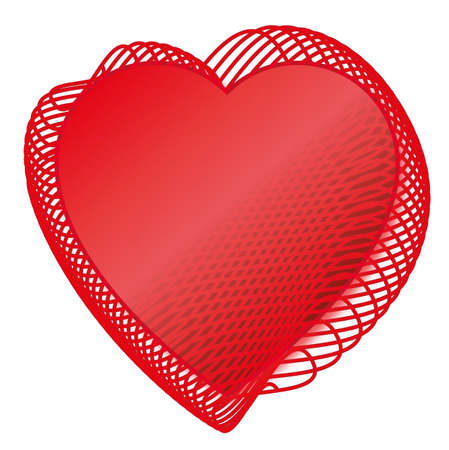 heats: Two Red love heats symbol of Valentine day Illustration