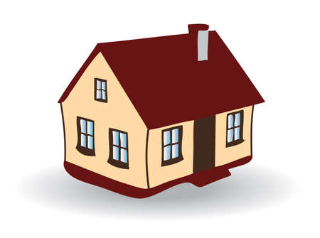 Colored EPS vector image of family house Vector