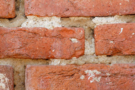 grune: red brick wall texture for grune background use Stock Photo