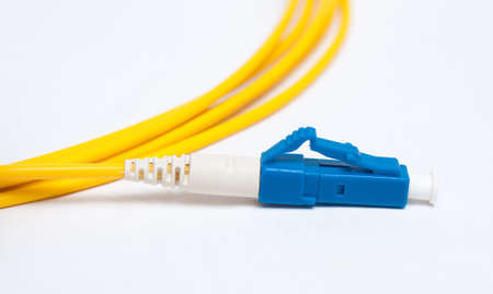 Optical single mode LC patch cord with blue connector
