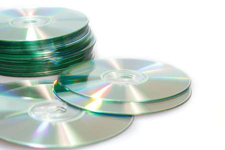 group of compact discs cd-rom on a white background  Stock Photo - 12678222