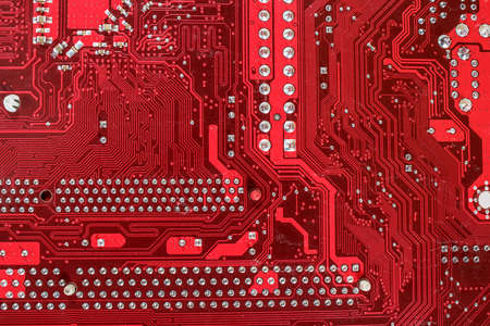 electronic circuit: Electronic circuit board of motherboard back side close up Stock Photo