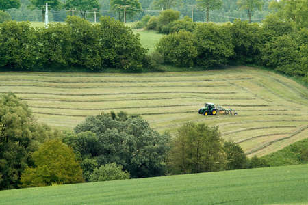 haymaking: Beautiful lansdscape with Haymaking in Czech Republic