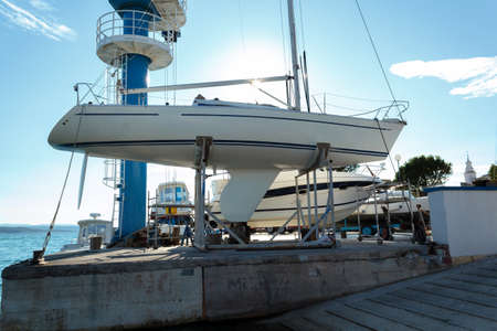 yachts service and shipyard in port Croatia photo