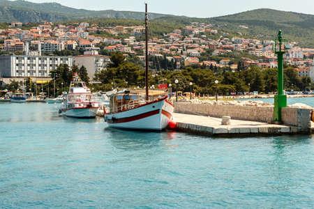 two cruise boats on pier in croatian sea