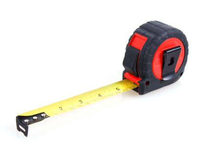 red and black measuring tape on white background Stock Photo - 15560968