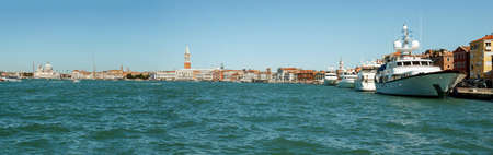 Panorama of Venice  Italy  view from sea photo