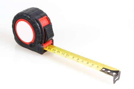 red and black measuring tape on white background Stock Photo - 15825266