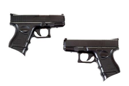 Black airsoft guns isolated on white background  Stock Photo - 17084158