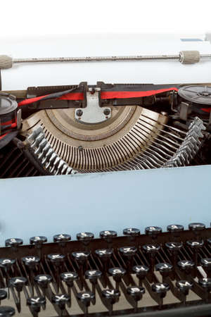 retro typewriter close up with detail of keys and letters mechanism Stock Photo - 17462030