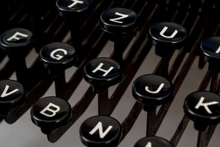 detail of black keys on retro typewritter Stock Photo - 17462006