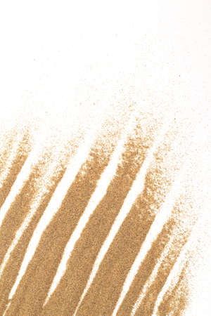 closeup of sand on a white for background or backdrop use Stock Photo - 17576822