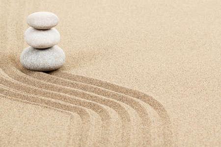 Balance of three zen stones in sand Stock Photo - 17777331
