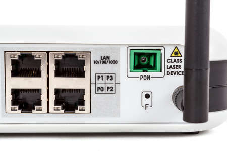 end user: Passive Optical network, Detail of end user fiber optic GPON terminal with wifi and catv connection