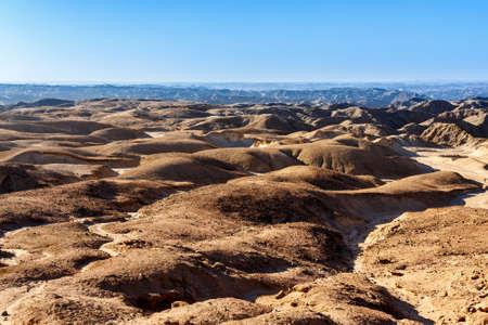 paisaje lunar: panorama de fantrastic Namibia paisaje lunar regi�n de Erongo - en el camino a Swakopmud