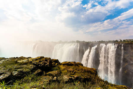 The Victoria falls is the largest curtain of water in the world (1708 meters wide). photo