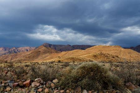 moonscape: panorama of fantrastic Namibia moonscape landscape, Hardap region