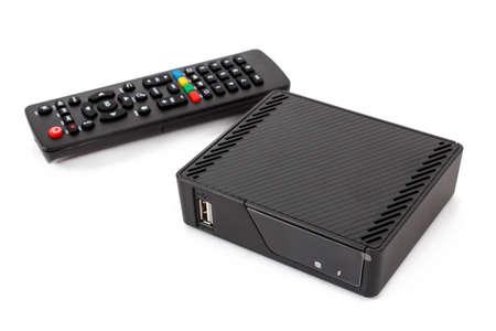 アンドロイド TV セットトップ ボックス受信機リモート コント ローラー白で隔離