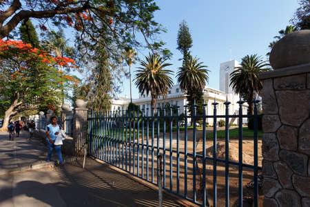 zimbabwe: ZIMBABWE, BULAWAYO, OCTOBER 27: African student behind school in Bulawayo, the second largest city in Zimbabwe, October 27, 2014, Zimbabwe