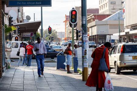 ZIMBABWE, BULAWAYO, OCTOBER 27: Peoples on street in the second largest city in Zimbabwe, October 27, 2014, Zimbabwe Editorial