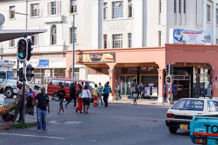 zimbabwe: ZIMBABWE, BULAWAYO, OCTOBER 27: Peoples on street in the second largest city in Zimbabwe, October 27, 2014, Zimbabwe Editorial