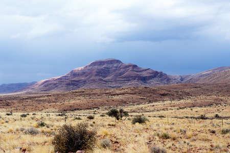 moonscape: panorama of fantastic Namibia moonscape landscape, Hardap region