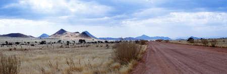 paisaje lunar: panorama del fant�stico paisaje lunar paisaje Namibia, regi�n de Hardap Foto de archivo