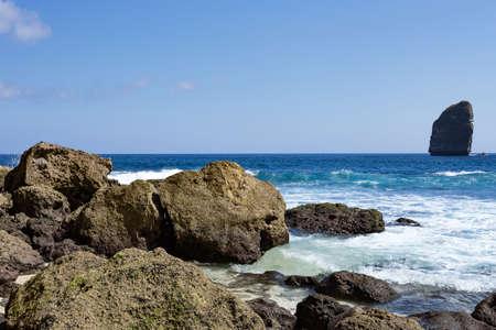 nusa: coastline at Nusa Penida island, Tembeling Nusa Penida, Bali Indonesia
