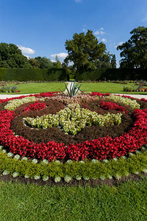 neogothic: famous flower design in garden, colorand ornament  arangement Stock Photo