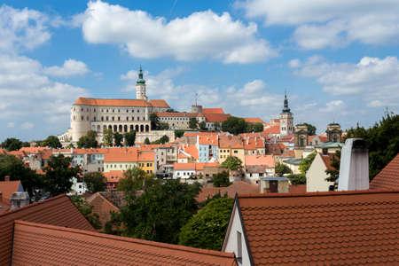 Mikulov town, view from Svaty Kopecek - Mikulov, South Moravia, Czech Republic Editorial