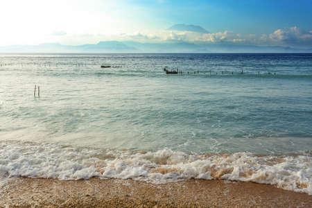 nusa: dream beach, Bali Indonesia, Nusa Penida island with blue sky