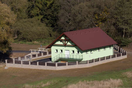 wastewater: new build of small rural rural village wastewater treatment plant