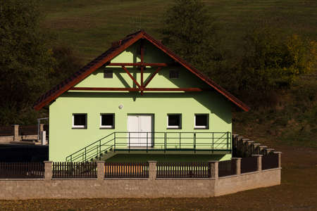 environmental sanitation: new build of small rural rural village wastewater treatment plant