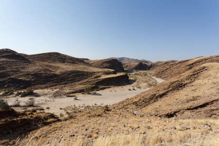 moonscape: fantrastic Namibia moonscape landscape, near town Walvis bay, Kuiseb Canyon