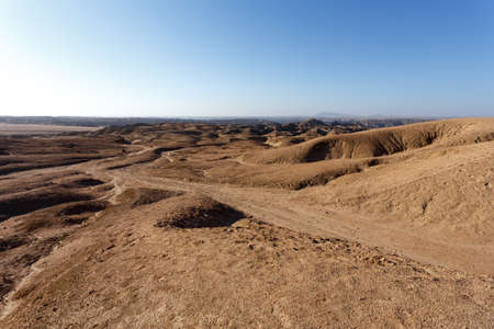moonscape: panorama of fantrastic Namibia moonscape Erongo region - on the way to Swakopmud