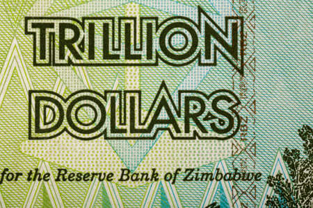 50 dollar bill: Macro of Zimbabwe twenty billion dollars banknote. Now void currency. Inflation concept
