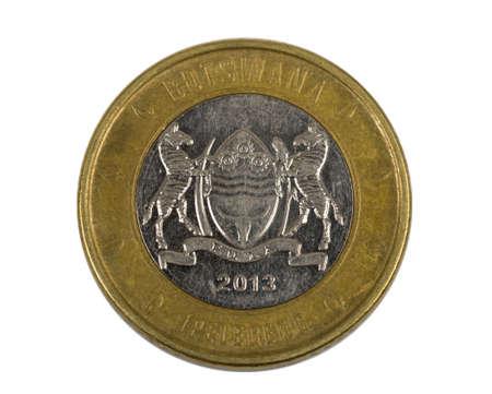 botswana: Detail of Botswana Pula coin. Botswana Pula is the national currency of Botswana