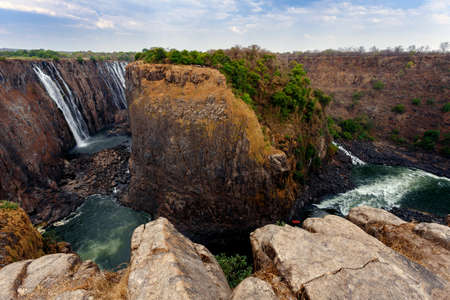 The Victoria falls is the largest curtain of water in the world (1708 meters wide). The falls and the surrounding area is the National Parks - Zambia, Zimbabwe