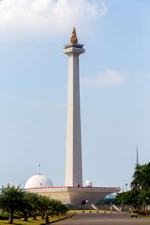merdeka: National Monument in the center of Merdeka Square, Jakarta, Indonesia
