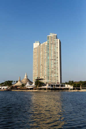 bay city: JAKARTA - August 10: Modern building on Ancol. Ancol Dreamland is an integral part of Ancol Bay City. August 10, 2015 in Jakarta, Indonesia.