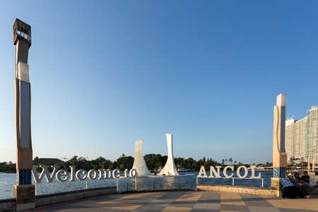 bay city: JAKARTA - August 10: Modern art on Ancol Dreamland. Ancol Dreamland is an integral part of Ancol Bay City. August 10, 2015 in Jakarta, Indonesia.
