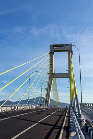 sukarno: The Sukarno Bridge over the harbor in Manado, North Sulawesi, Indonesia