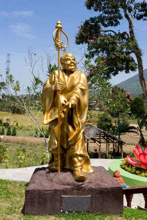 sulawesi: Buddhistic fat monk statue in complex Pagoda Ekayana, north Sulawesi, Sulawesi, Indonesia