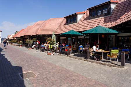 swakopmund: SWAKOPMUND, NAMIBIA - October 8, 2014: Street in Namibian city Swakopmund. City was founded in 1892, by Captain Curt von Francois as the main harbour of German South West Africa. Editorial