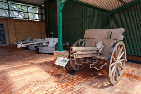 Johannesburg, South Africa - October 30, 2014: M0612 Field Gun Germany 1907 (1st world war). Ditsong National Museum of Military History in Johannesburg. Editorial