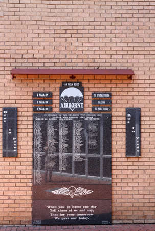 30 s: Johannesburg, South Africa - October 30, 2014: Ditsong National Museum of Military History in Johannesburg. Museum show key events anglo Wars and South Africa's role in the First and Second World Wars.