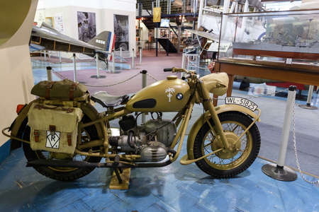 Johannesburg, South Africa - October 30, 2014: 2nd World War BMW Motorcycle Afrika Corps 1942. National Museum of Military History in Johannesburg.