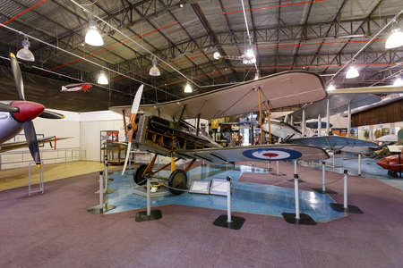experimental: Johannesburg, South Africa - October 30, 2014: 1st World War royal aircraft scout experimental 5a (SE5a). National Museum of Military History in Johannesburg. Editorial