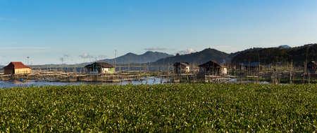 impoverished: Fish farm and hatchery or nursery, Lake Tondano, Sulawesi, Indonesia (Celebes), Asia Editorial