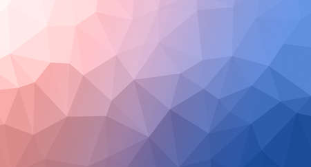 rumpled: multicolor abstract geometric rumpled triangular low poly style illustration graphic background. Rose Quartz and Serenity colors, abstract background